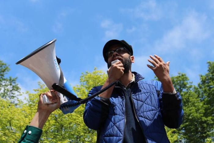 Photo credit Claudio Gonzáles Pictured AAUP grad committee member Abhishek Bhattacharyya