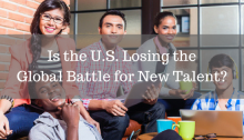 four college students, blog title Is the US Losing the Global Battle for New Talent?