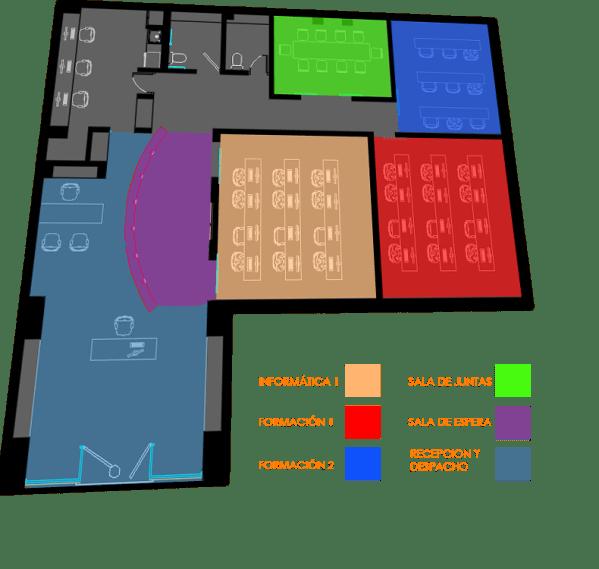 Plano de academia Alquiler Aulas