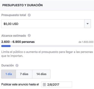 Presupuesto Promocionar Publicación