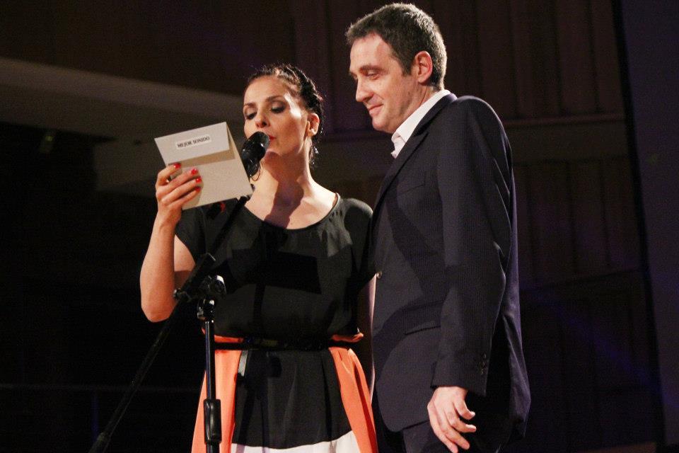 La acrtiz y cantante Karina K y el músico y director de la Usina del Arte Gustavo Mozzi