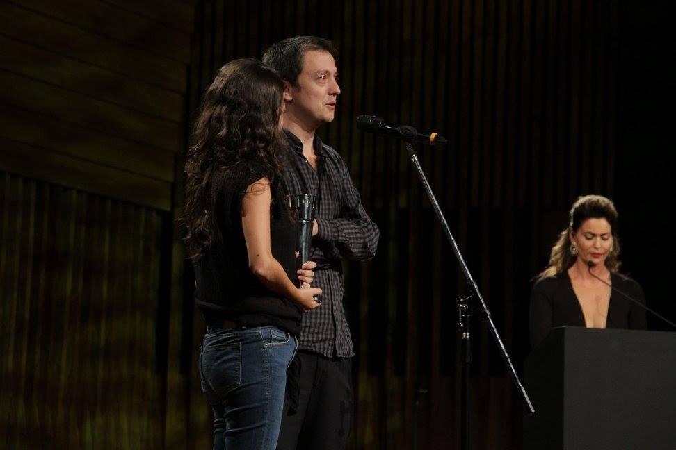 """Francisco Márquez y Andrea Testa - Mejor Guión Adaptado """"La Larga Noche de Francisco Sanctis"""""""