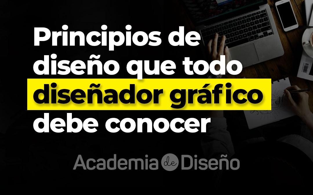 Principios de diseño que todo diseñador gráfico debe conocer