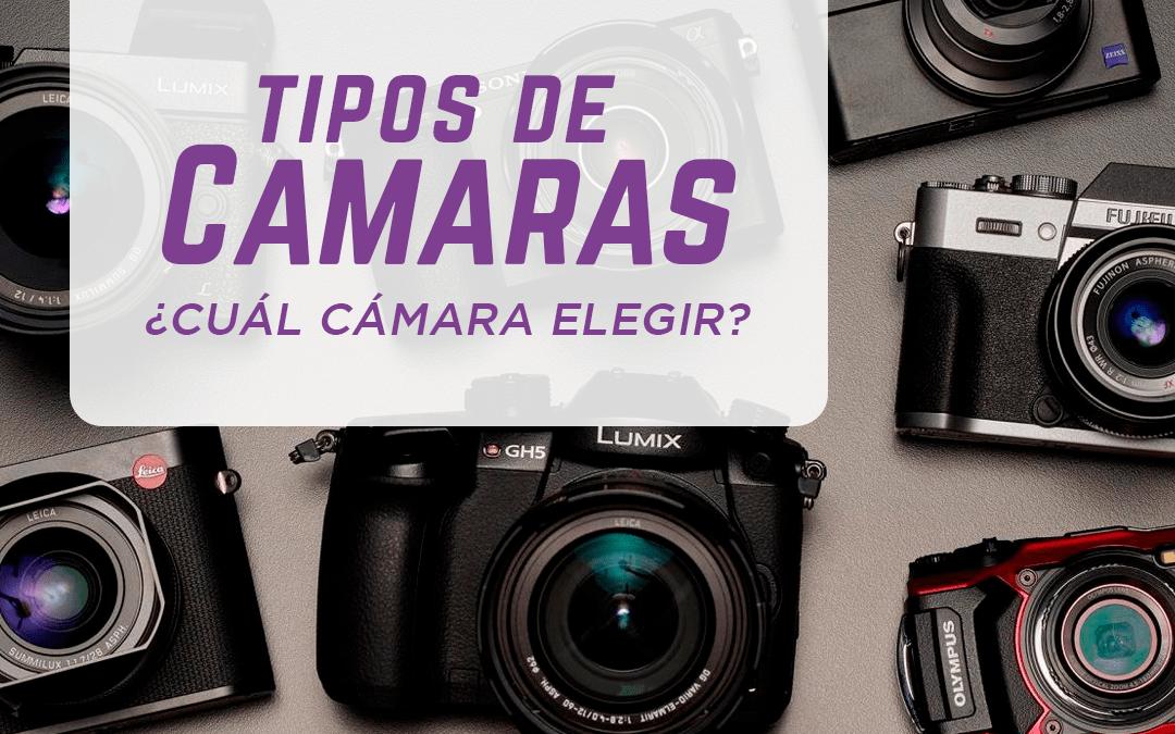 Tipos de cámaras recomendadas para Fotografía