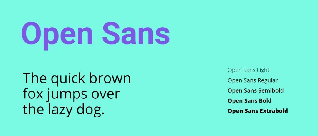 tipografia gratis de google fonts open sans