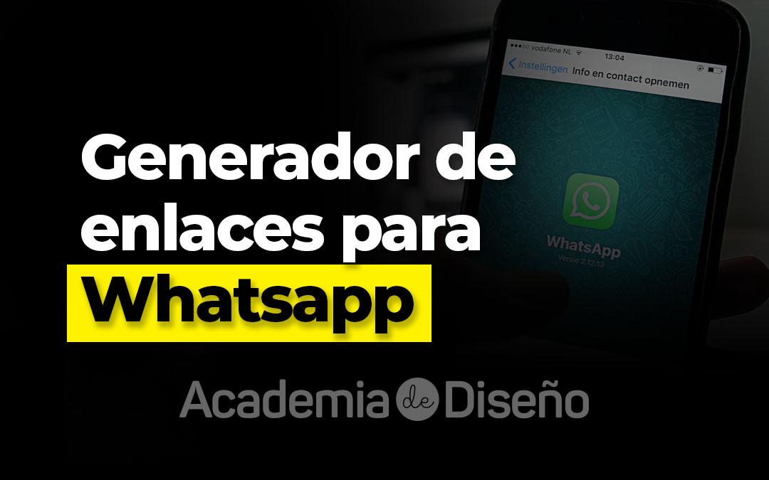 Generador de enlaces para Whatsapp