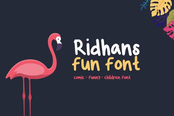 Las mejores fuentes gratis para descargar ridhans fun font