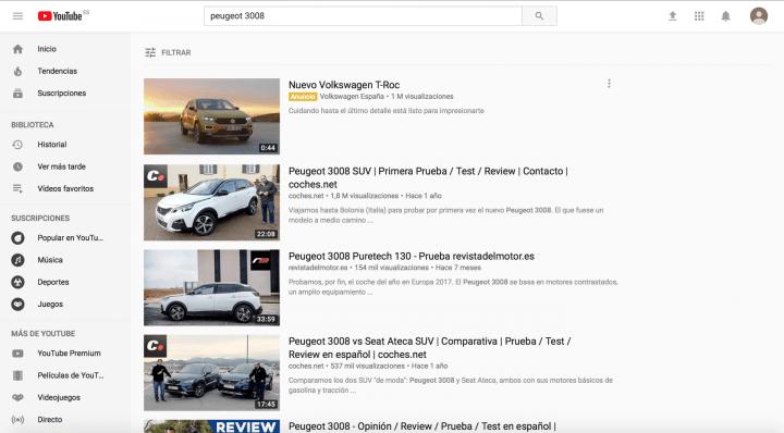 Encuentra clientes en YouTube
