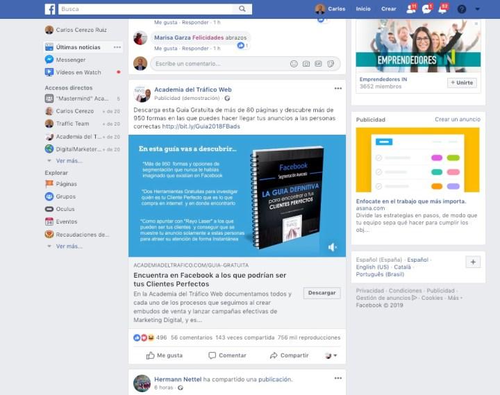 Anuncio Facebook Ads a Lead Magnet