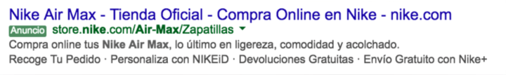Anuncio google ads envio gratuito