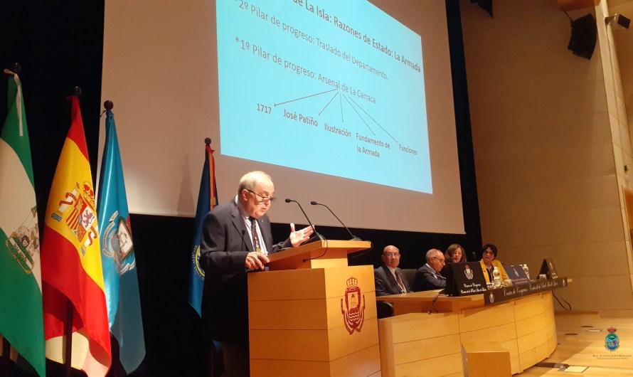 D. José Quintero destacó los nombres que hicieron posible la evolución de la Carraca y su influencia en la Isla de León