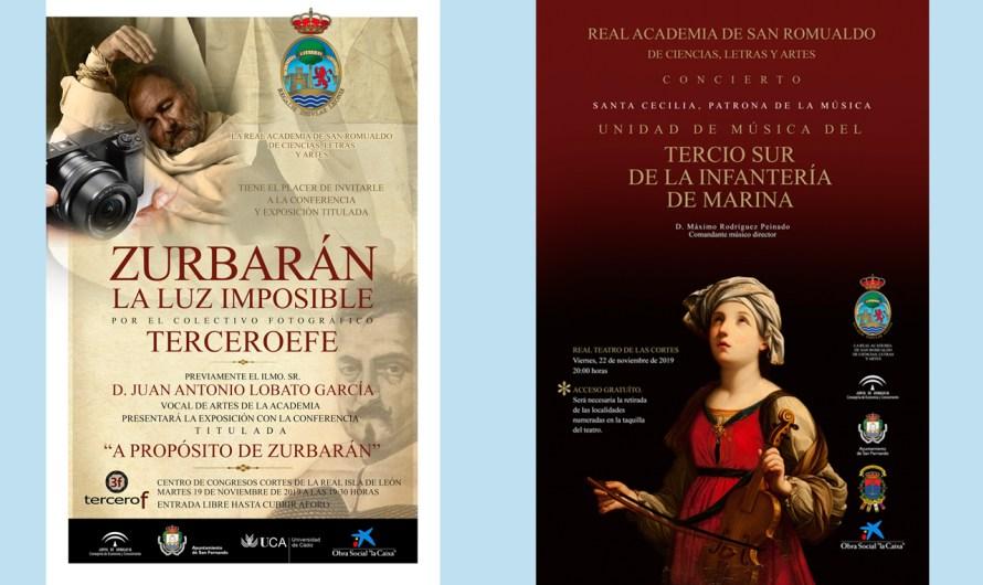 Zurbarán y Santa Cecilia centran la actividad de la Academia durante los días 19 y 22 de noviembre