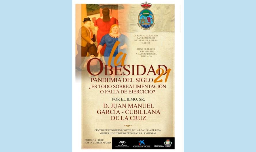 La obesidad como pandemia del siglo XXI centra la conferencia de la Academia del martes 11 de febrero