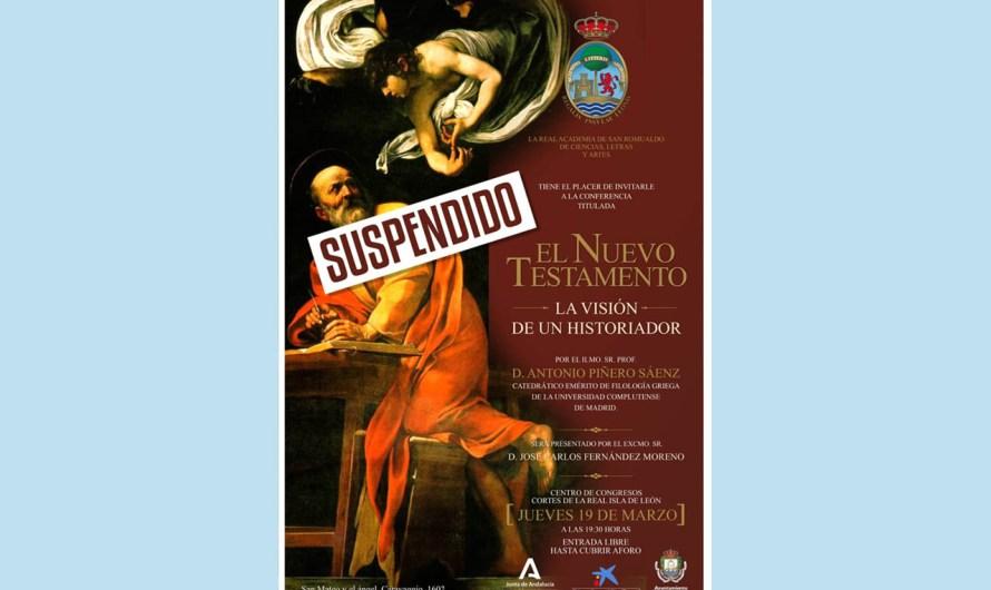 La Academia de San Romualdo suspende sus actividades previstas para el mes de marzo