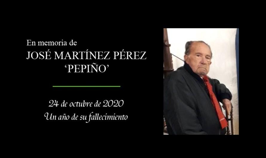 En memoria de D. José Martínez Pérez 'Pepiño' en el primer aniversario del fallecimiento del afamado pintor