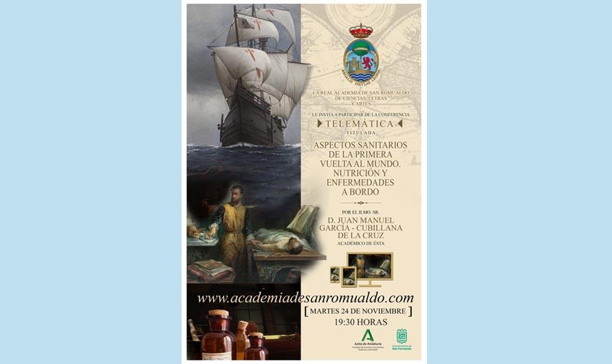 Martes 24 de noviembre, conferencia 'Aspectos sanitarios de la primera vuelta al mundo. Nutrición y enfermedades a bordo'