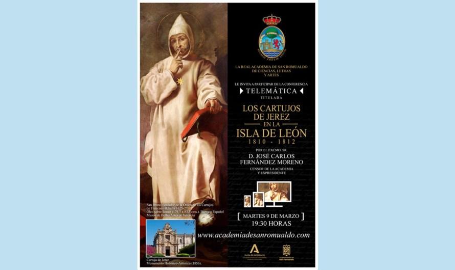 D. José Carlos Fernández impartirá la conferencia 'Los cartujos de Jerez en La Isla de León (1810-1812)' el martes 9 de marzo