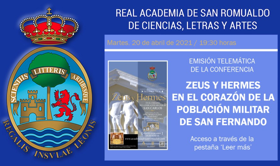 Enlace para ver la conferencia 'Zeus y Hermes en el corazón de la Población Militar de San Carlos' el martes 20 de abril