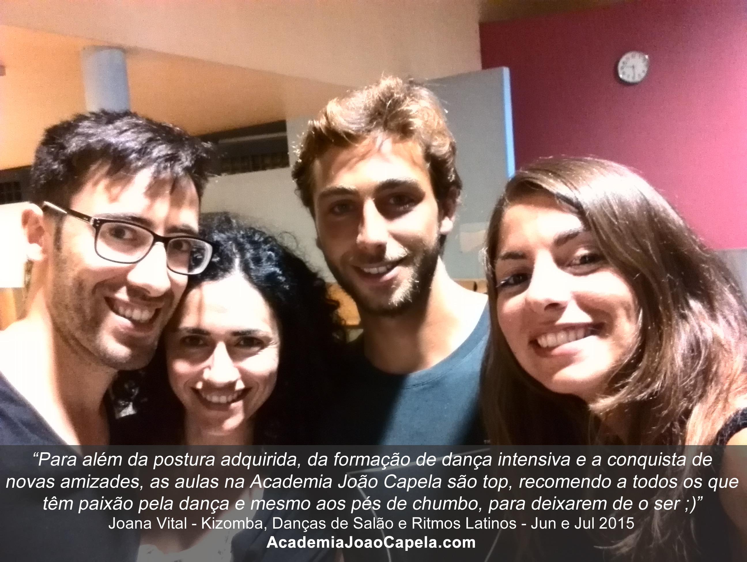 Testemunho de Joana Vital sobre as aulas de dança da Academia João Capela