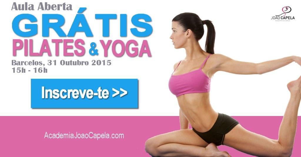 Aula Aberta de PIlates e Yoga dia 31 Outubro em Barcelos