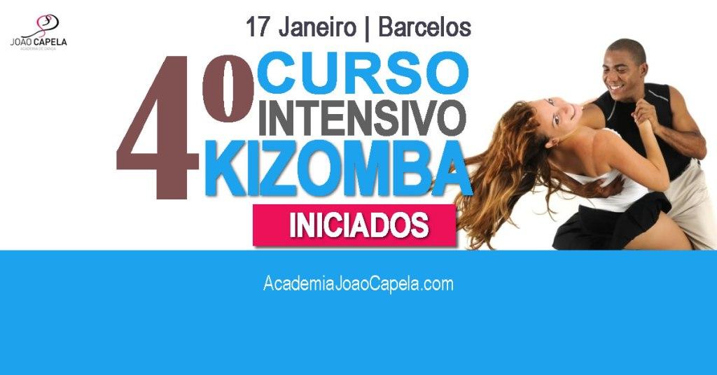 4º Curso intensivo de kizomba iniciados 17 janeiro barcelos