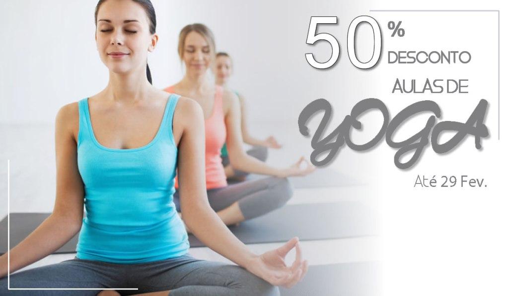 50% Aulas de Yoga em Fev 2020 - Barcelos