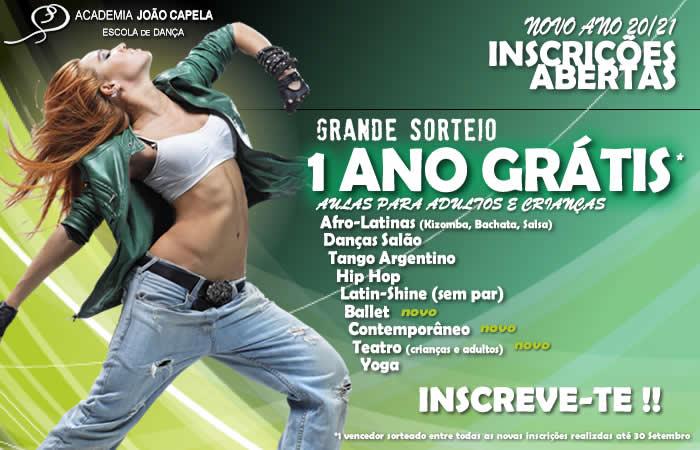 Inscrições Abertas Novo Ano Letivo 20-21 Aulas de Dança e Teatro Barcelos