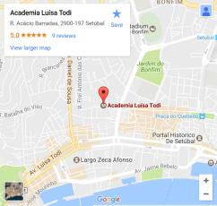 Mapa Academia Luisa Todi