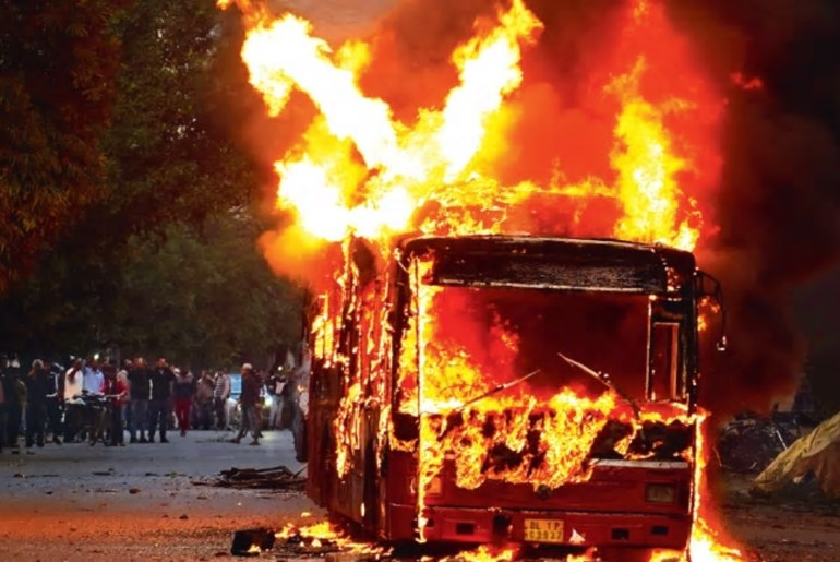 India Up In Flames As Students