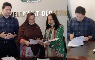 MOU Signed For E-Training For Girls In Lockdown