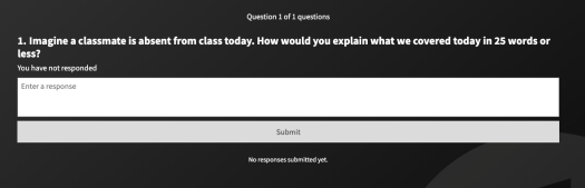 Poll Everywhere one question exit ticket survey