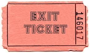 pink exit ticket