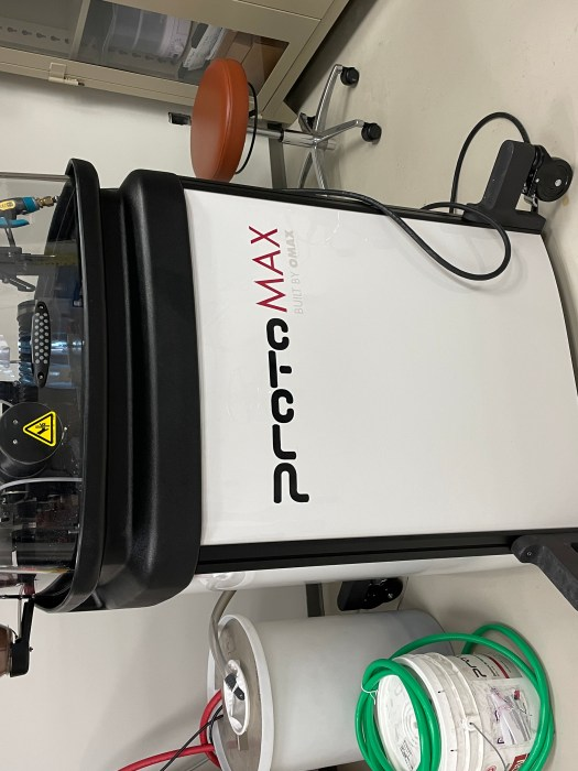 The new ProtoMAX waterjet cutter in the IQ Center