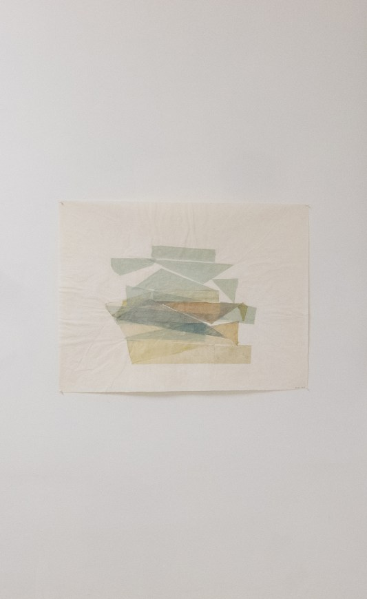 Beka Goedde, Matters of Fact IV, 2012, pencil, gampi, watercolor and acrylic on paper, 20-1/4 x 26-1/4 in