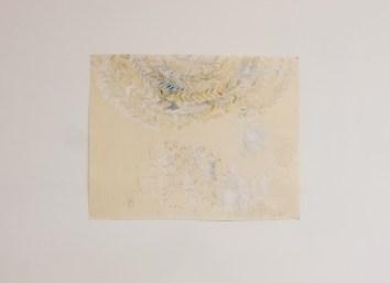Beka Goedde, Floor Landscape II, 2013, watercolor, acrylic, handmade paper and pencil on paper, 21 x 27 in