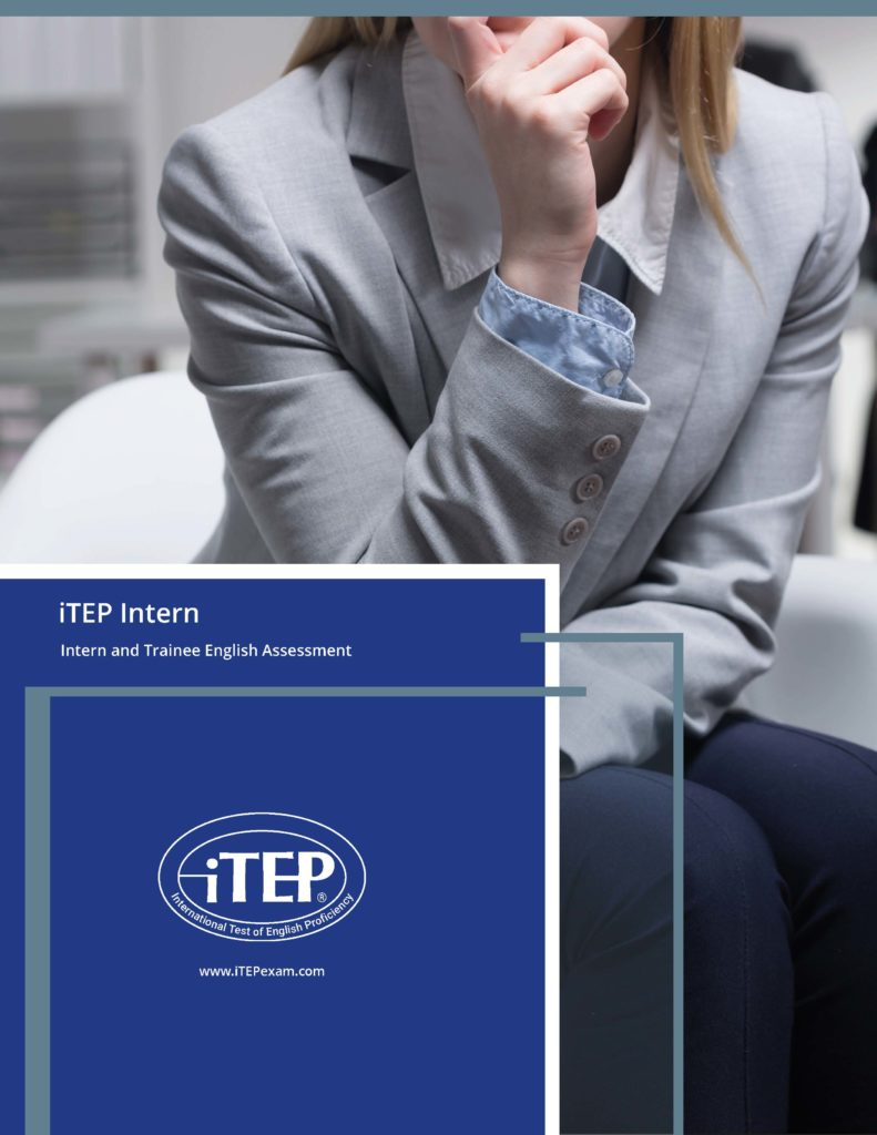 iTEP Intern test brochure cover