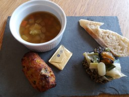 Glamorgan Sausage, Cawl, Lavabread and mussels