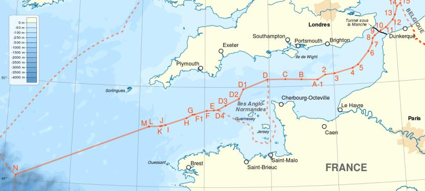 Les frontières maritimes de la France