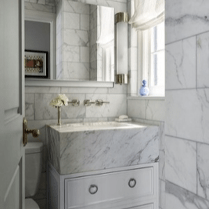 how to pair a gray and white bathroom
