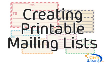 How To Create a Printable Mailing List