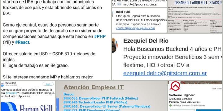 ¿Hay trabajo en PHP?