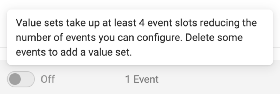 Prioritize your Facebook events: edit your events: value sets