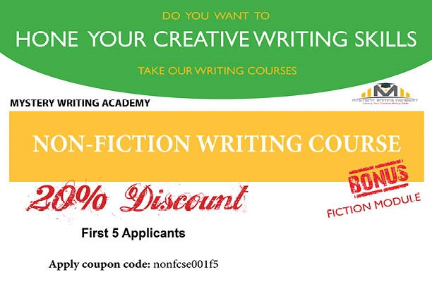 Get 20% Discount and a Bonus Fiction Module in Our April 2021 Non-Fiction Writing Course