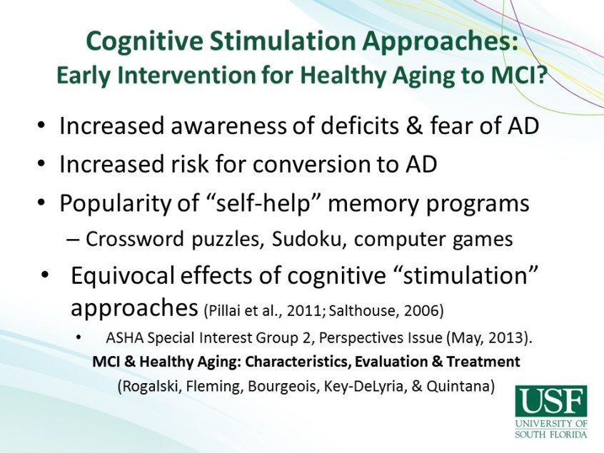 Innovative Treatments For Persons With Dementia Asha Journals Academy