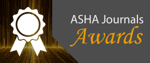 2018 ASHA Journals Awards