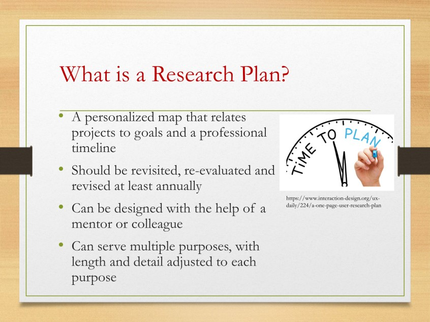 how to do a research plan
