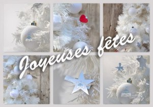 Joyeuses fêtes blanc