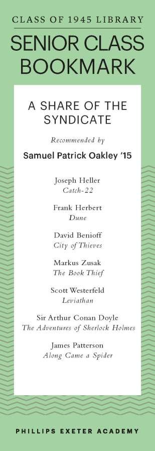 Samuel Patrick Oakley '15