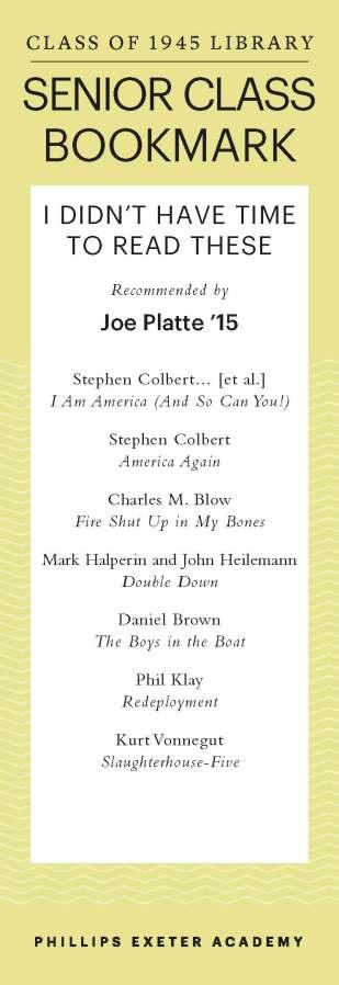 Joe Platte '15