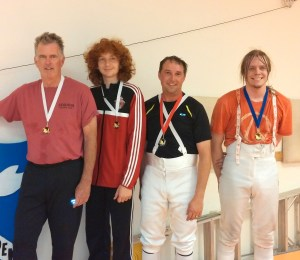 """Jordan Schmidt won Bronze medal at Bay Cup Epee tournament and earned """"D"""""""